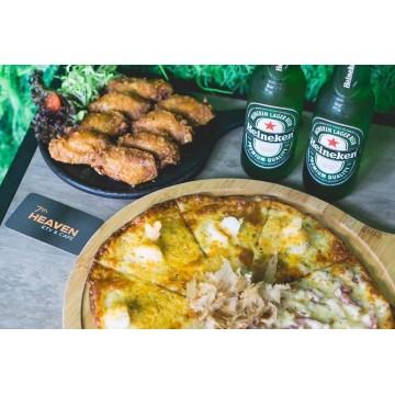 Yuan Yang Pizza & 6pcs Honey Wings Combo