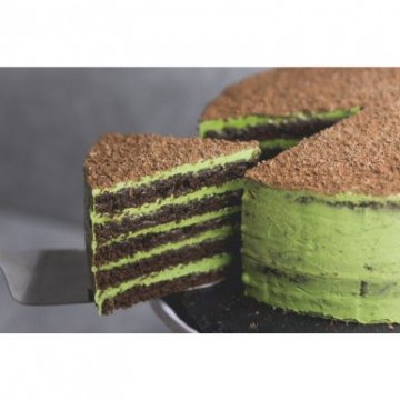 Double Chocolate Matcha Cake (Sliced)