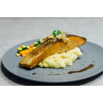Teriyaki Salmon with Truffle Mash